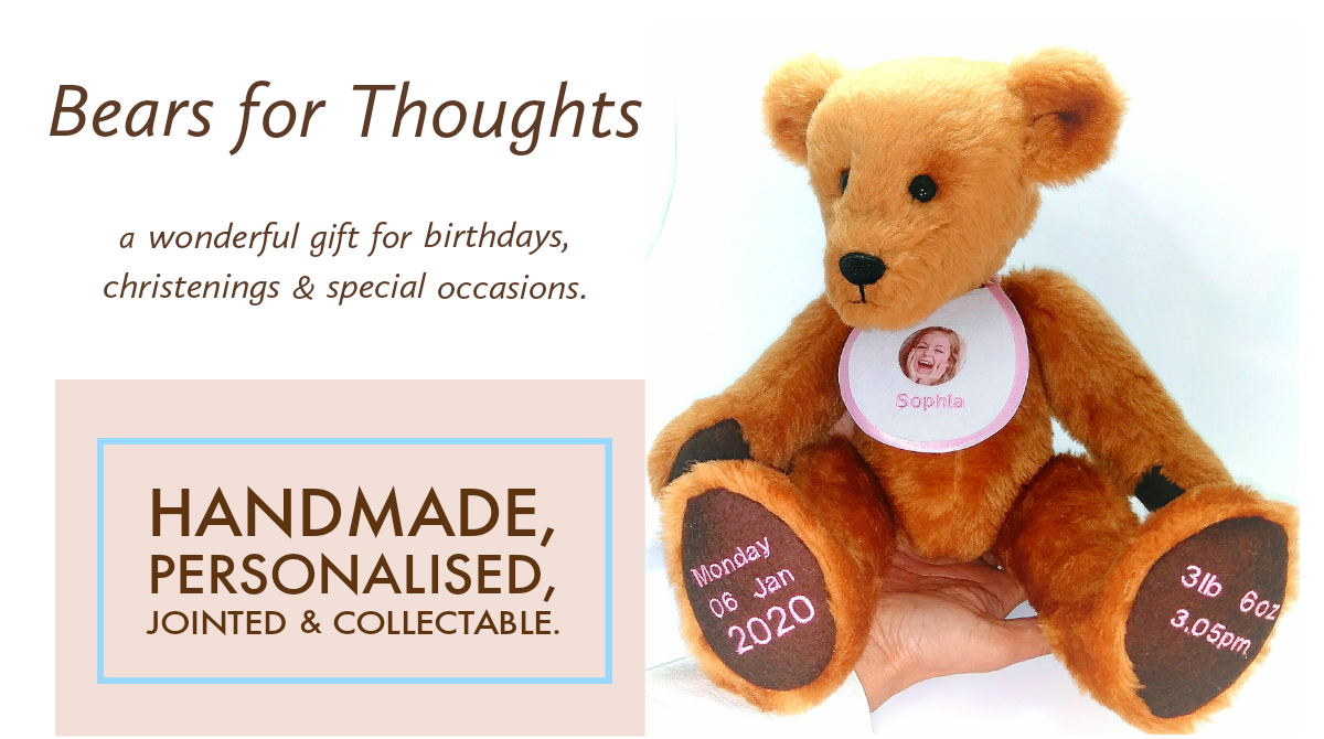 personalised, handmade bears from bears for thoughts
